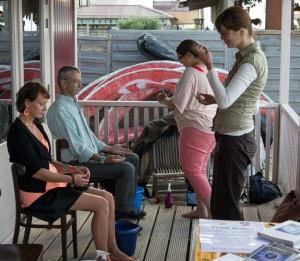 Healers met coachee op een evenement