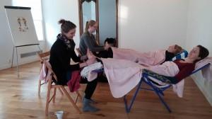 Een Yogales en voetmassage, dat is genieten